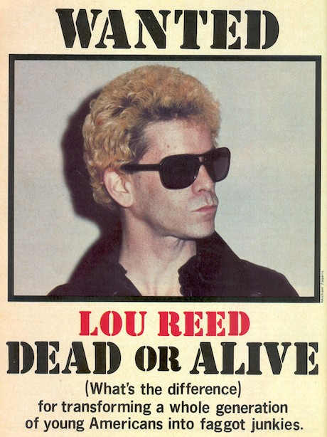 Lou Reed ad. in CREEM magazine