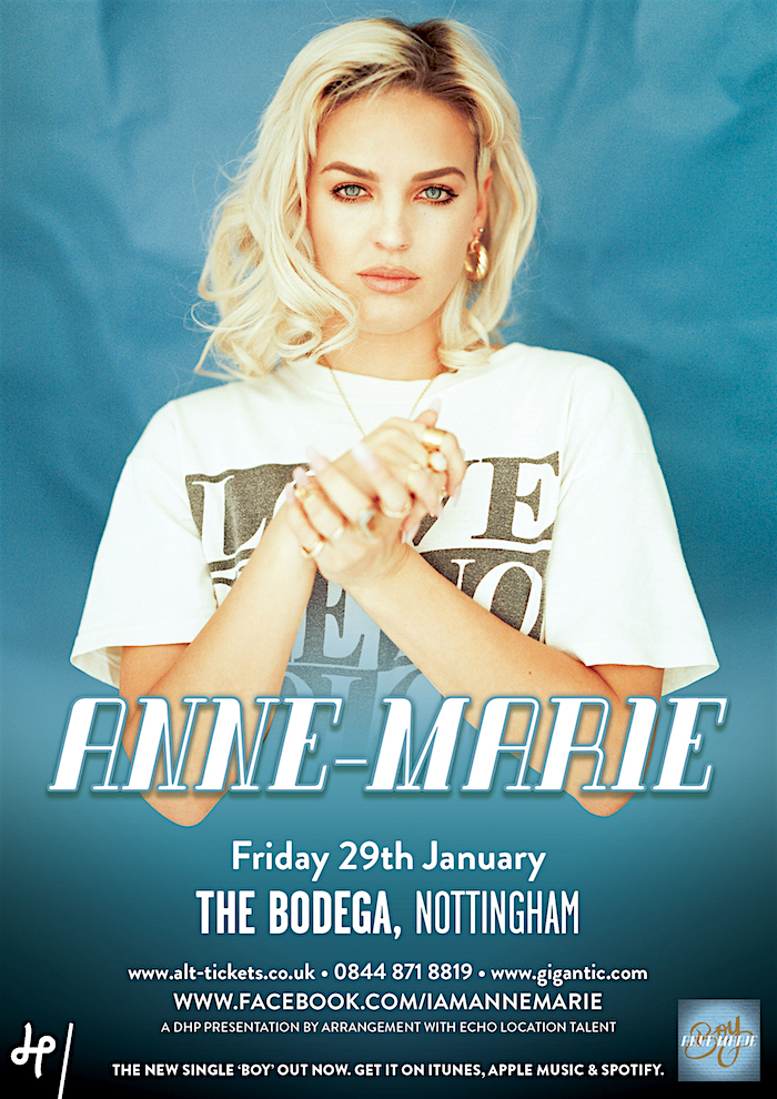 Anne-Marie gig poster