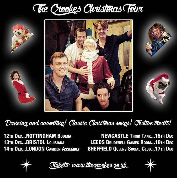 THE CROOKES Christmas tour image