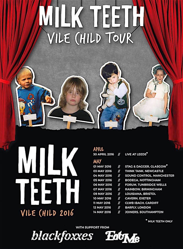 MILK TEETH tour poster image