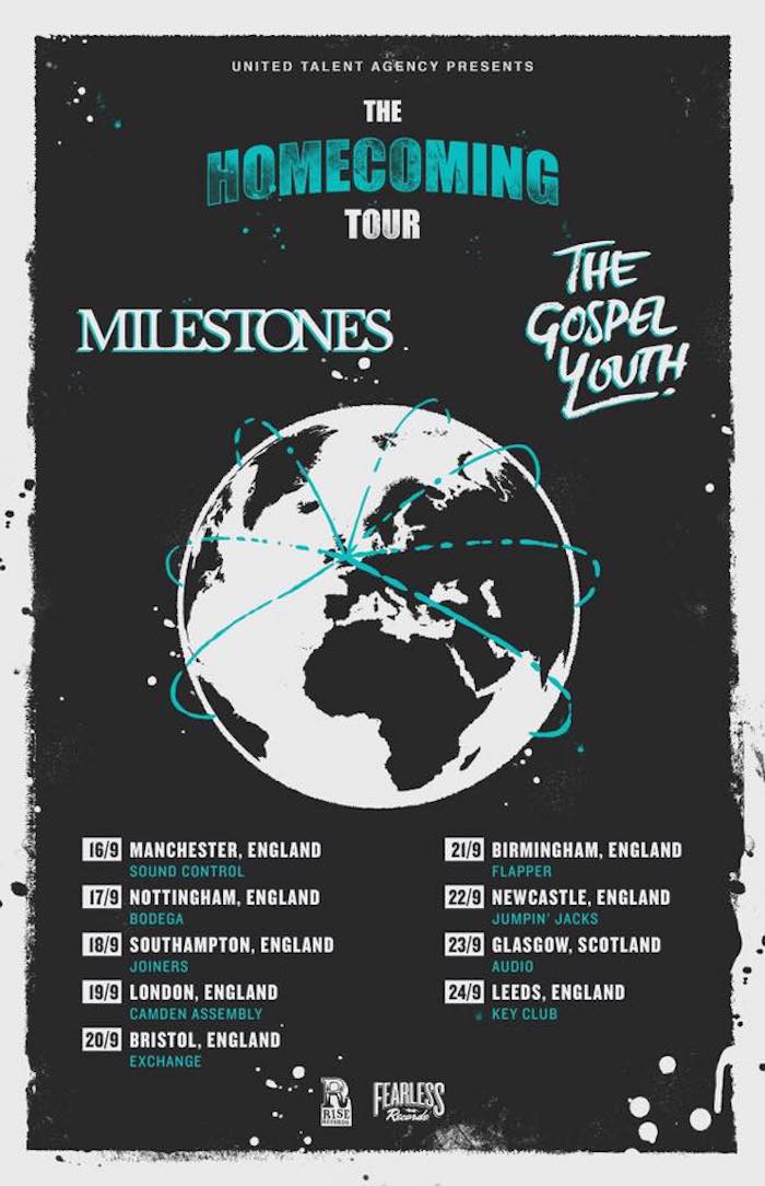 GOSPEL YOUTH / MILESTONES tour poster