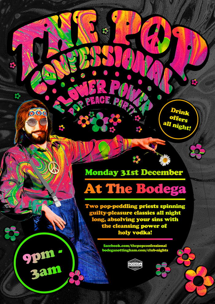 NYE - POP CONFESSIONAL Flower Power poster image