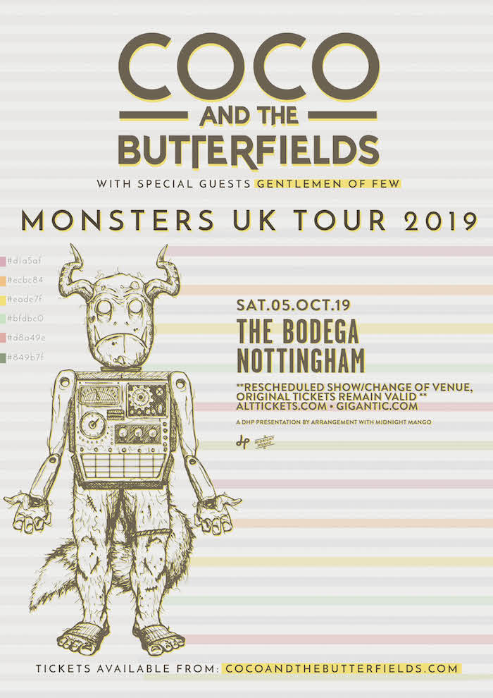 COCO & THE BUTTERFIELDS live at The Bodega poster image