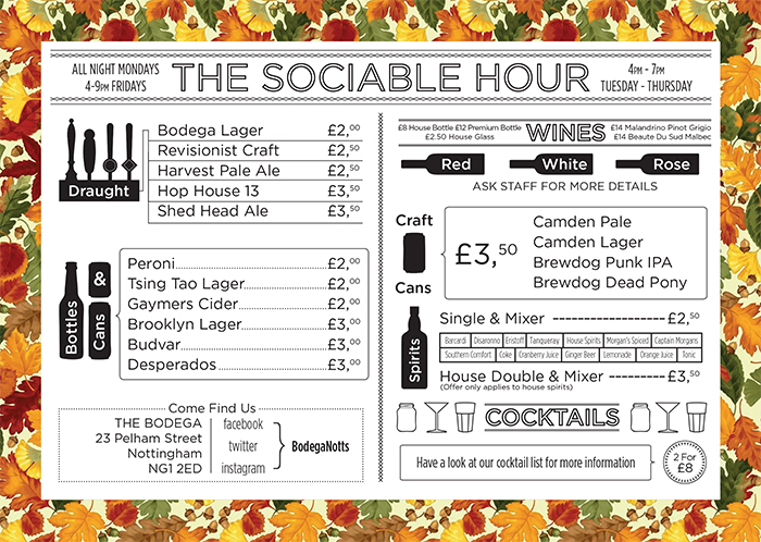 BODEGA WINTER HAPPY HOURS drinks offers